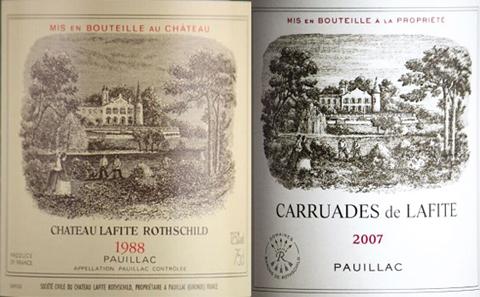 法国拉菲红酒酒标图片信息图片