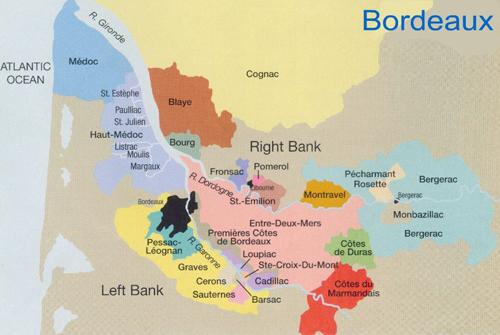 法国波尔多产区地图一览