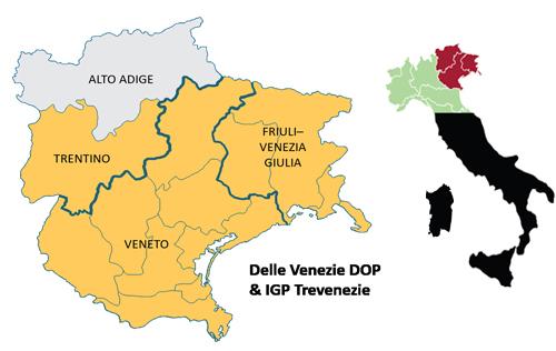 威尼姿法定产区(Delle Venezie DOC)
